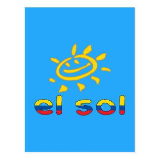 El Sol - The Sun in Ecuadorian Summer Vacation Postcard