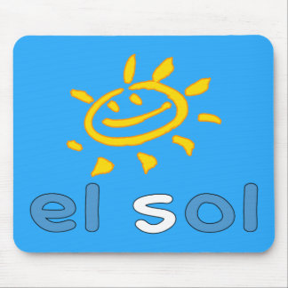 El Sol - The Sun in Guatemalan Summer Vacation Mouse Pad
