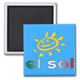 El Sol The Sun in Mexican Summer Vacation Refrigerator Magnets