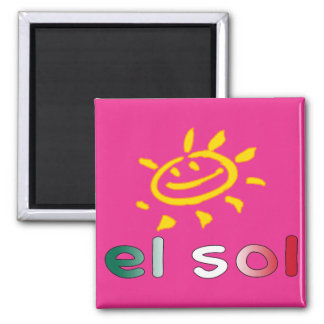 El Sol The Sun in Mexican Summer Vacation Fridge Magnets
