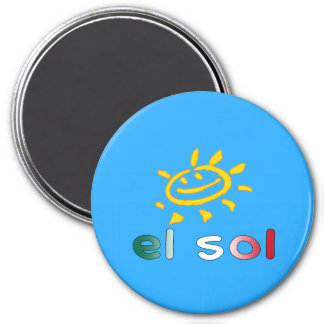 El Sol The Sun in Mexican Summer Vacation Magnet