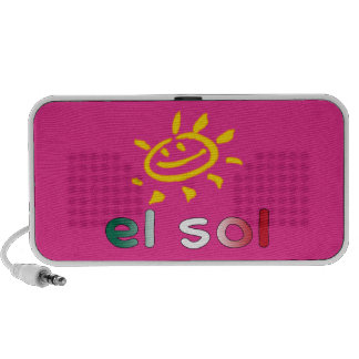 El Sol The Sun in Mexican Summer Vacation Notebook Speakers