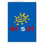 El Sol - The Sun in Peruvian Summer Vacation Card