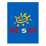 El Sol - The Sun in Peruvian Summer Vacation Post Card