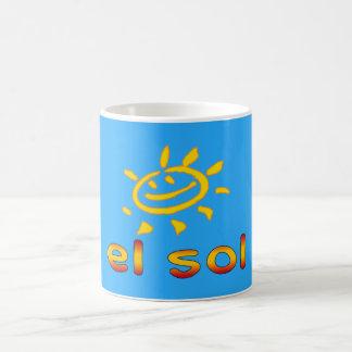 El Sol The Sun in Spanish Summer Vacation Mug