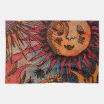 El sol y la luna toalla de mano