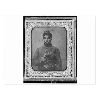 El soldado americano negro original postal