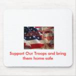 el soldado, apoya a nuestras tropas y las trae cas tapete de ratones