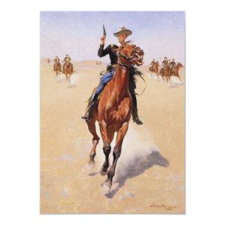"""El soldado de caballería de Federico Remington Invitación 5"""" X 7"""""""