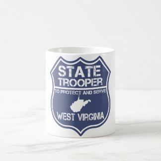 El soldado de caballería estatal de Virginia Taza De Café