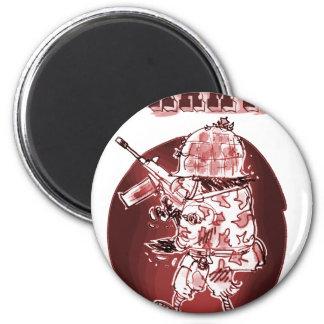 el soldado del águila del ejército posterize rojo imán redondo 5 cm