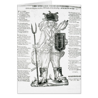 El soldado irlandés inglés, con nueva disciplina tarjeta