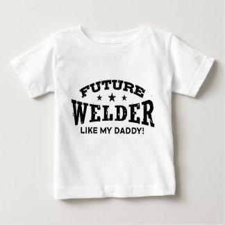 El soldador futuro tiene gusto de mi papá playera de bebé