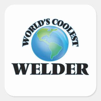 El soldador más fresco del mundo pegatina cuadrada