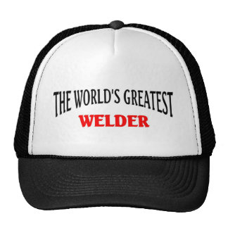 El soldador más grande de Worl'd Gorros Bordados