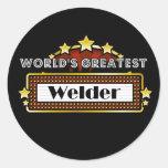 El soldador más grande del mundo etiqueta