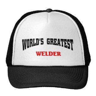 El soldador más grande del mundo gorro de camionero