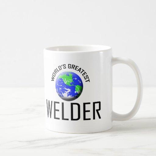 El soldador más grande del mundo tazas de café