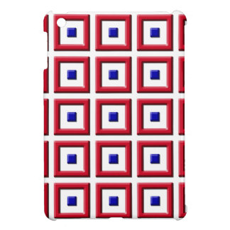 El sólido azul y rojo ajusta el caso del iPad