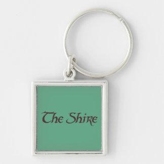 El sólido conocido de SHIRE™ Llaveros Personalizados
