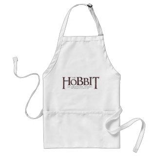 El sólido del logotipo de Hobbit Delantal