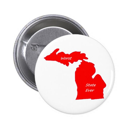 El sólido siempre rojo peor del estado de Michigan Pins