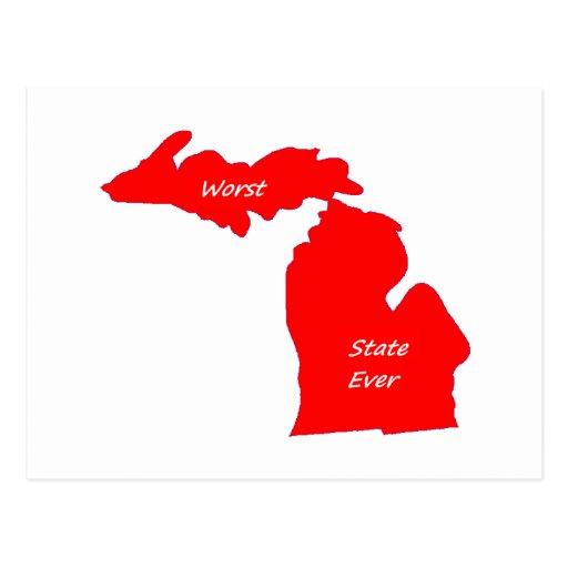 El sólido siempre rojo peor del estado de Michigan Postal