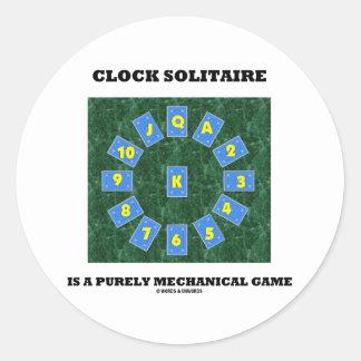 El solitario del reloj es un juego puramente pegatina redonda
