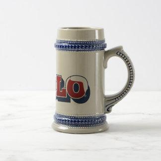 El solo jarra de cerveza