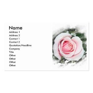 El solo rosa rosado se descoloró y frotó tarjeta de visita