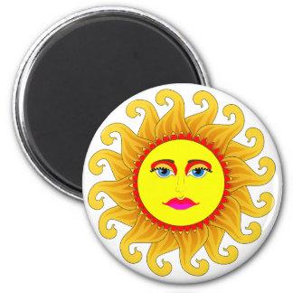 el solsticio de verano imán redondo 5 cm