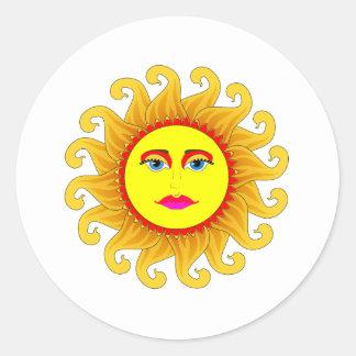 el solsticio de verano pegatina redonda