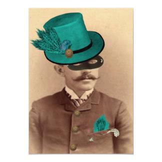 """El sombrerero enmascarado invitación 5"""" x 7"""""""