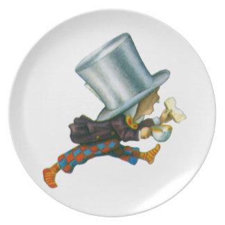 El sombrerero enojado de Alicia en el país de las Platos Para Fiestas