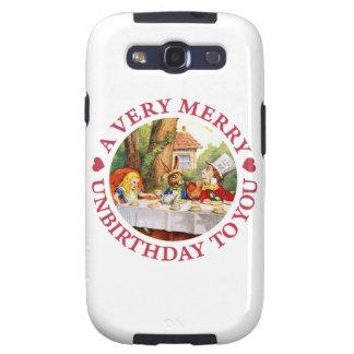 El sombrerero enojado dice A Unbirthday muy feliz Samsung Galaxy S3 Carcasas