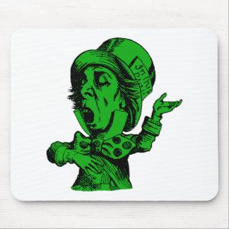 El sombrerero enojado entintó el terraplén verde alfombrillas de ratones