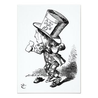 El sombrerero enojado invitación 12,7 x 17,8 cm