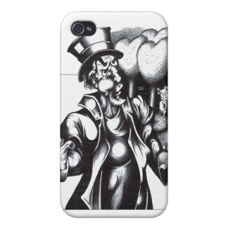 El sombrerero enojado iPhone 4 fundas
