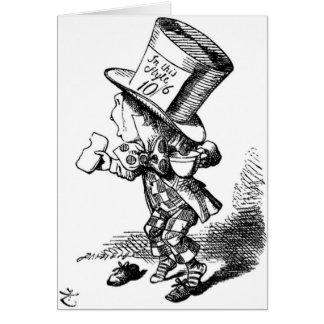 El sombrerero enojado tarjeta de felicitación