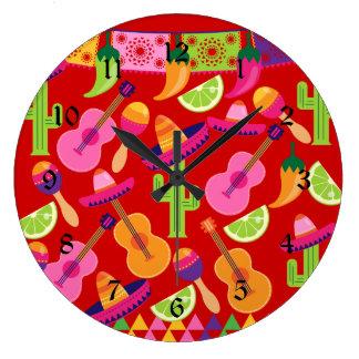El sombrero del fiesta de la fiesta abona el Sagua Relojes De Pared