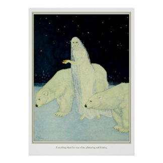 El soñador de sueños Blanco relucir y brillante Impresiones