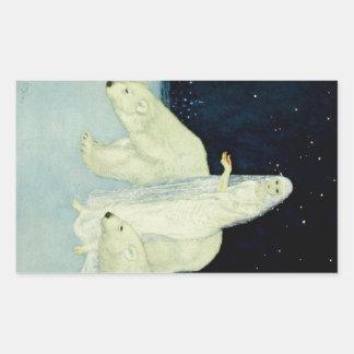 El soñador de sueños: Blanco, relucir y brillante Pegatina Rectangular