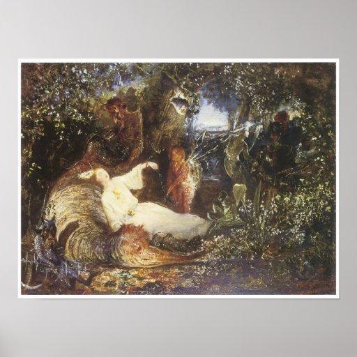 El soñador prisionero, 1856 poster