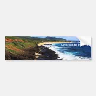 El soñar despierto de Hawaii Pegatina Para Auto