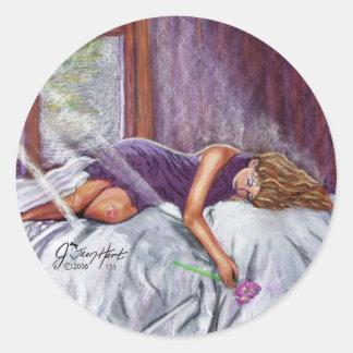 El soñar despierto etiqueta redonda