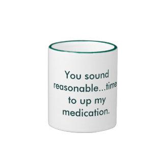 El sonar razonable taza de dos colores