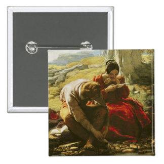 El soneto, 1839 (aceite en el panel) pin cuadrado