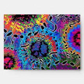 El sonido colorea psicodélico sobres