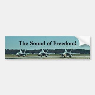 ¡El sonido de la libertad! Pegatina De Parachoque