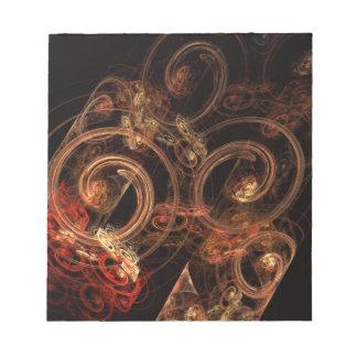 El sonido de la libreta del arte abstracto de la m libretas para notas